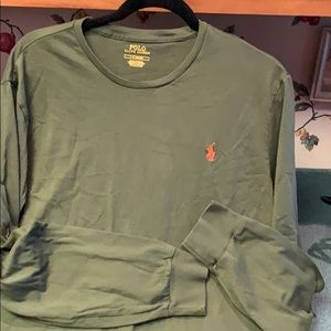 Ralph Lauren Polo Long Sleeve Olive Green Tee